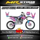 Stiker motor decal Honda CRF 150 Blue Pinky Color Line Strip Grafis Race