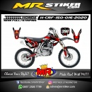 Stiker motor decal Honda CRF 150 Trabas Red Splat Brush