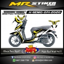Stiker motor decal Honda Genio Yellow Crown White Grafis