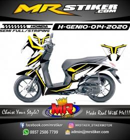 Stiker motor decal Honda Genio Yellow Crown White Grafis