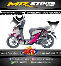 Stiker motor decal Honda Genio Gray Gradation Grafis Pinky Color Elegan