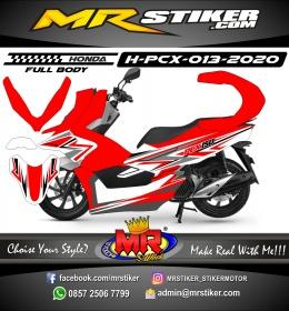 Stiker motor decal Honda PCX 150 Red Grafis Line Simply (FullBody)