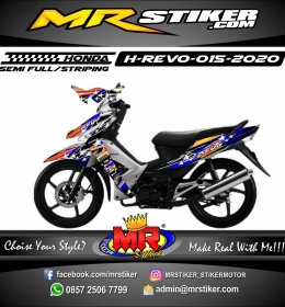 Stiker motor decal Honda Revo Star Racing Grafis