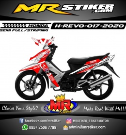 Stiker motor decal Honda Revo Red Grafis Energyti