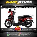 Stiker motor decal Honda Scoopy Dark Red Racing