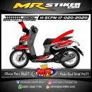 Stiker motor decal Honda Scoopy New 2017 Red Racing Grafis Black