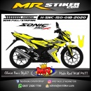 Stiker motor decal Honda Sonic 150 R Yellow Gray Grafis Variasi