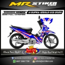 Stiker motor decal Honda Supra X 125 Old Red White Grafis Blue Color Racing