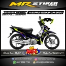 Stiker motor decal Honda Supra X 125 Old Green Stabillo Race