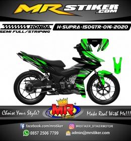 Stiker motor decal Honda Supra 150 GTR Neon Green Line Carbon