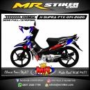 Stiker motor decal Honda Supra Fit X Red Blue Split Grafis Race Flag
