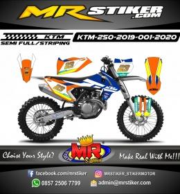 Stiker motor decal KTM 250 2019 Motorex Race Track
