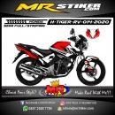 Stiker motor decal Honda Tiger Revo Grafis Red White