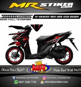 Stiker motor decal Honda Vario 150 Red White Line Grafis Simple