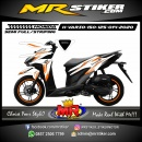 Stiker motor decal Honda Vario 150 Orange Tech Grafis