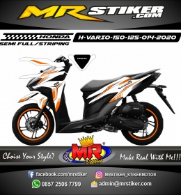 Stiker motor decal Honda Vario 150 Orange Tech Grafis