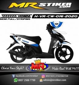 Stiker motor decal Honda Vario CW Thor Blue Grafis