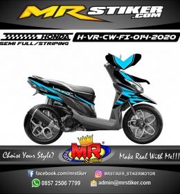 Stiker motor decal Honda Vario CW FI Sky Blue Grafis