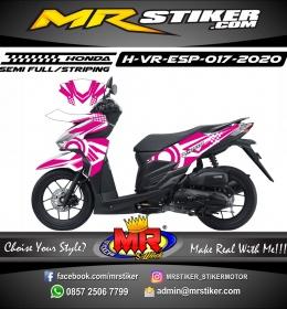 Stiker motor decal Honda Vario ESP Pink Grafis Line White