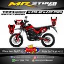 Stiker motor decal Kawasaki D-TRACKER New Fox The Red Grafis