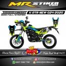 Stiker motor decal Kawasaki D-TRACKER New Blue Grafis Line Green Fox