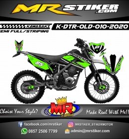 Stiker motor decal Kawasaki D-TRACKER OLD Green Grafis Race Star