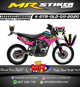 Stiker motor decal Kawasaki D-TRACKER OLD Pinky Road Race Grafis