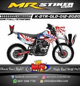 Stiker motor decal Kawasaki D-TRACKER OLD Japan Mode Grafis