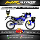 Stiker motor decal Kawasaki KLX 150 BF Blue Line Yellow Grafis Tracker