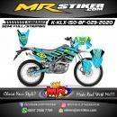 Stiker motor decal Kawasaki KLX 150 BF Blue Line Splat Grafis Glasses