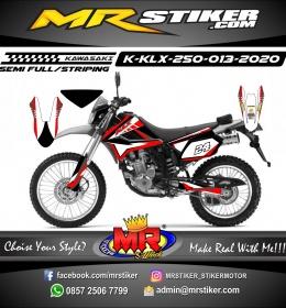 Stiker motor decal Kawasaki KLX 250 Red Line Grunge