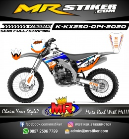 Stiker motor decal Kawasaki KX 250 Oneal Edition Orange Blue Grafis