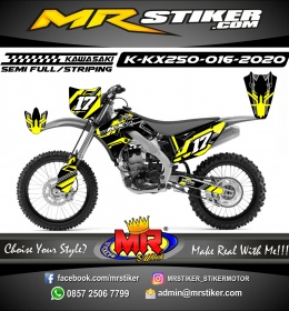 Stiker motor decal Kawasaki KX 250 Yellow Tech Grafis