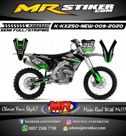 Stiker motor decal Kawasaki KX 250 New DarkGreen Gray Grafis
