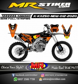 Stiker motor decal Kawasaki KX 250 New Orange RedBull KTM grafis