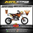 Stiker motor decal Kawasaki KX 85 New Orange Road Track Race Grafis