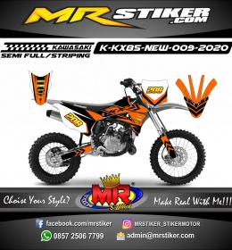 Stiker motor decal Kawasaki KX 85 New Orange Road Track Race Grafis