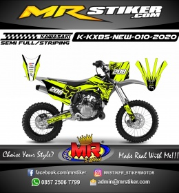Stiker motor decal Kawasaki KX 85 New Line Splat Fox