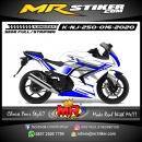 Stiker motor decal Kawasaki Ninja 250 Blue Grafis Simple Elegan