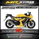 Stiker motor decal Kawasaki Ninja 250 Yellow Tech Carbon