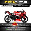Stiker motor decal Kawasaki Ninja 250 Red Splat Tokyo