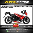 Stiker motor decal Kawasaki Ninja 250 Red Grafis Split Line