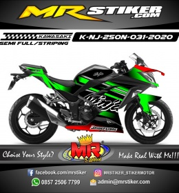 Stiker motor decal Kawasaki Ninja 250 New Green Line Grafis Trendy