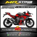 Stiker motor decal Kawasaki Ninja 250 New Black Red Grafis Tech