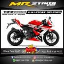 Stiker motor decal Kawasaki Ninja 250 RR Mono Red Tech Grafis