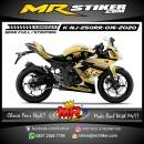 Stiker motor decal Kawasaki Ninja 250 RR Mono Gold Rossi 46