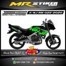 Stiker motor decal Kawasaki Ninja R N Green Techno Line