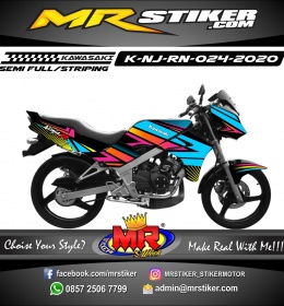 Stiker motor decal Kawasaki Ninja R New Raibow Grafis Colorful