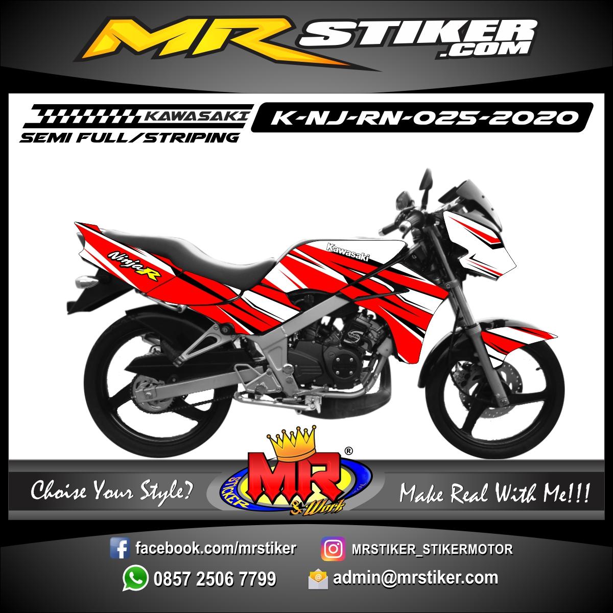 Stiker motor decal Kawasaki Ninja R New Red Grafis