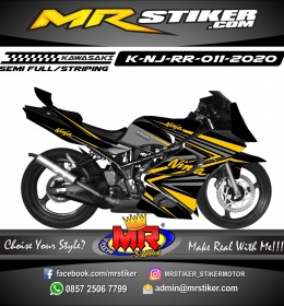 Stiker motor decal Kawasaki Ninja RR Orange Grafis Gray Line